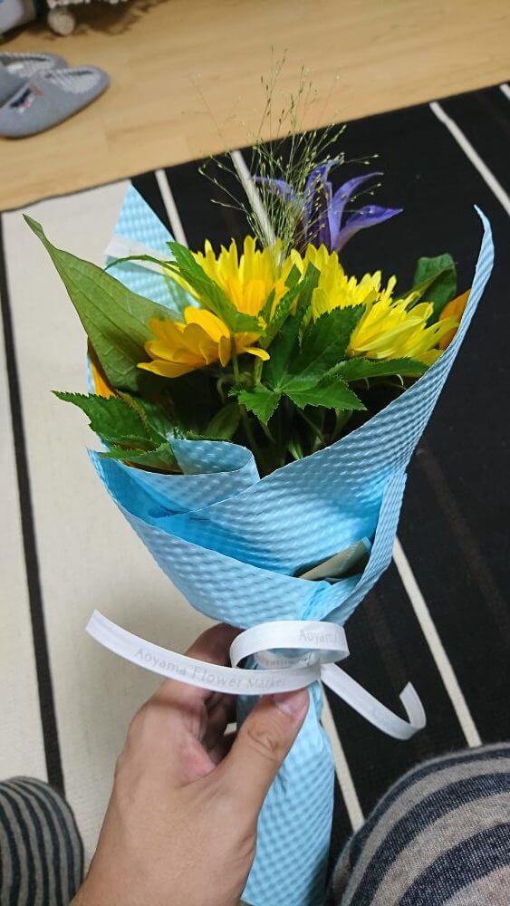 嫁からもらった花束