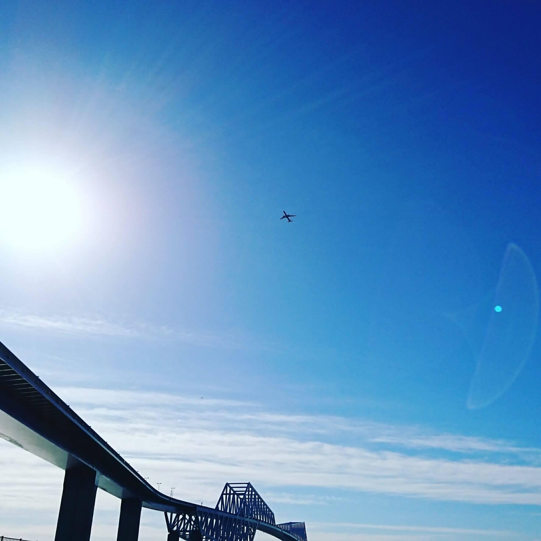 ゲートプリッジと飛行機